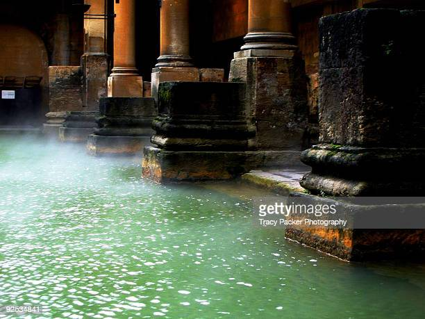 The Roman Baths, at Bath in England.