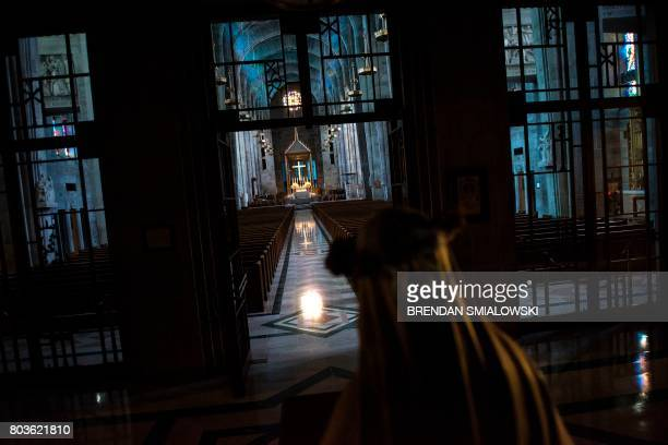 The Roman Catholic Archdiocese of Baltimore's Cathedral of Mary Our Queen is seen June 23 2017 in Baltimore Maryland 'The Keepers' is a sevenepisode...