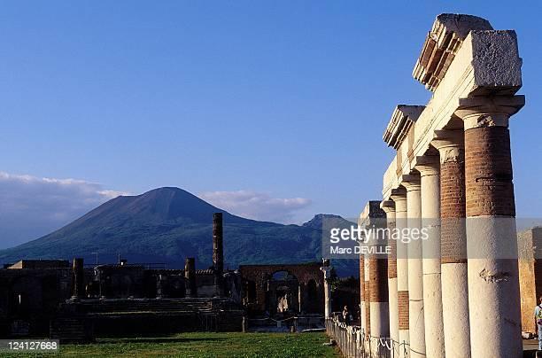 The Roman City of Pompei Italy In October 1997 Vesuvius