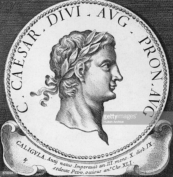 The Roman emperor Gaius Julius Caesar Germanicus known as Caligula circa 38 AD He ruled from 37 AD until his assassination in 41