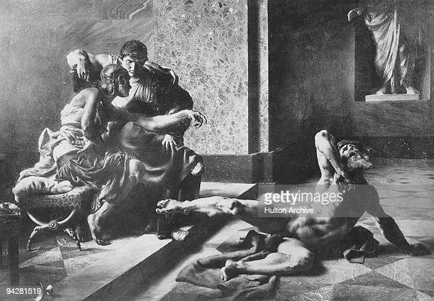 The Roman Emperor Nero watches as Locusta tests out the poison intended for Britannicus on a hapless slave 55 AD Locusta the first recorded serial...