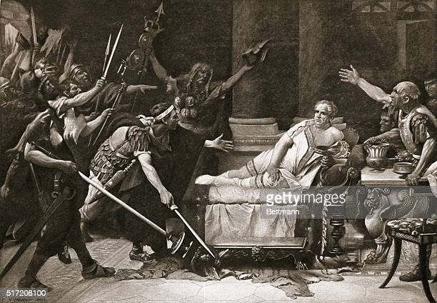 The Roman Emperor Vitellius the last of Nero's shortlived successors was killed by his own soldiers who supported a rival emperor in the year 69 AD