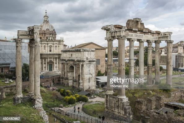 The Roman Forum in Latin Forum Romanum originally used as a marketplace on May 28 in Rome Italy The Forum was for centuries the center of Roman...