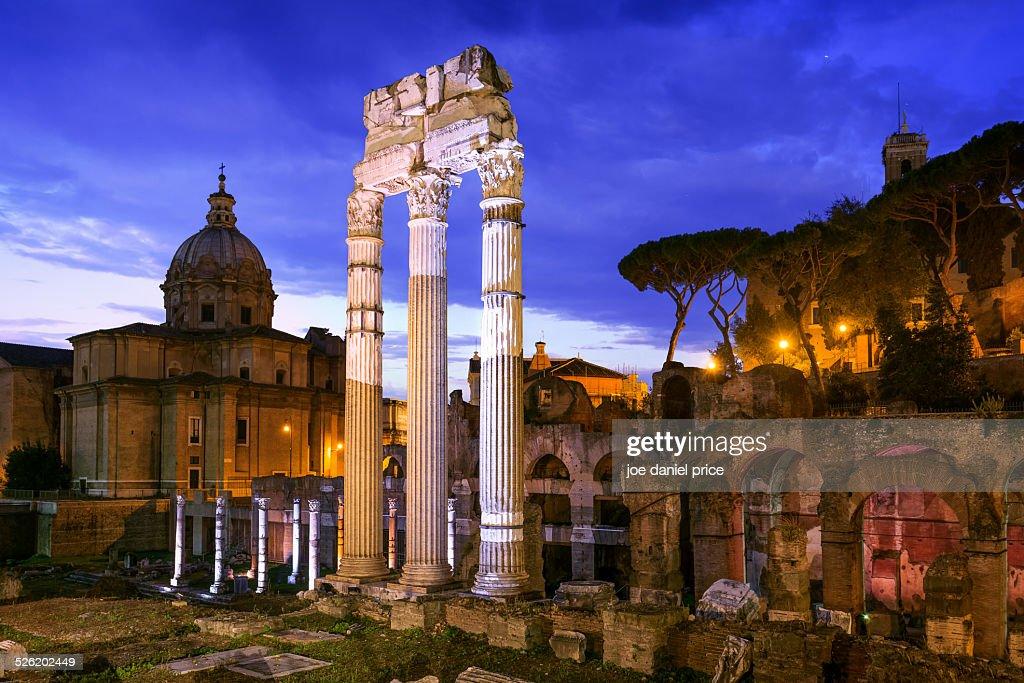The Roman Forum, Santi Luca e Martina Church, Rome