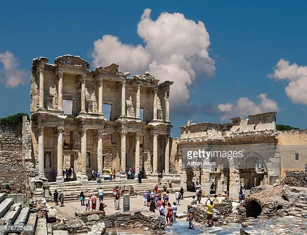 The Roman Library of Celsus in Izmir,Turkey