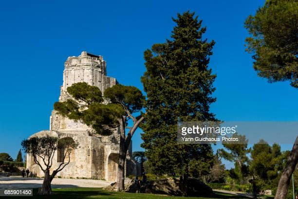 The roman Magne tower, Nimes, Gard, France