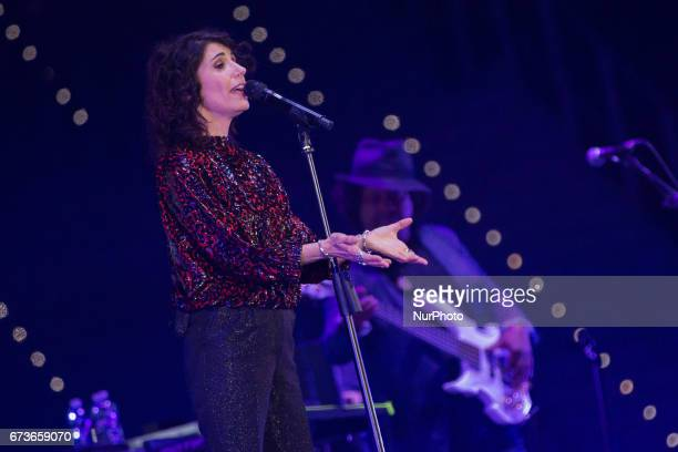 The Roman singer Giorgia arrives under the Mole at PalaAlpitour in Turin Italy on 26 April 2017 with her quotOronero Tourquot for the last stop of...