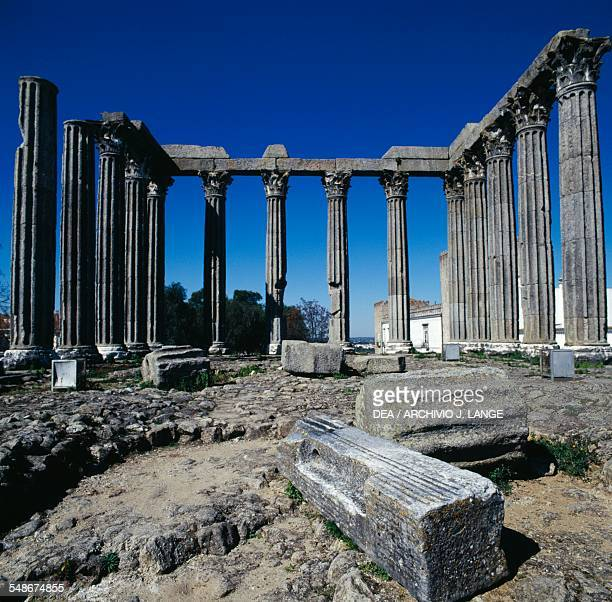 The Roman Temple of Evora also known as Temple of Diana Evora Alto Alentejo Portugal Roman civilisation 2nd3rd century