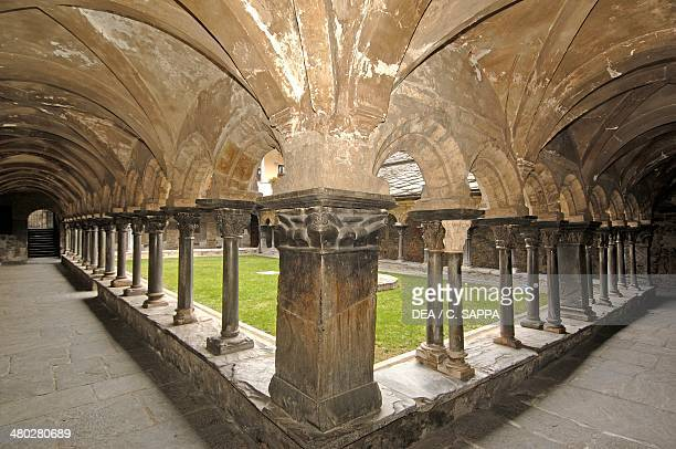 The Romanesque cloister of the Collegiate Church of Saint Orso St Ursus cloister Aosta Valle d' Aosta Italy