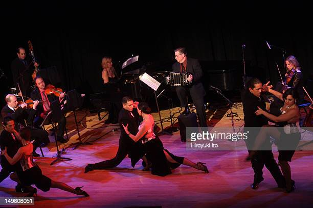 The Romulo Larrea Tango Ensemble presents 'Tangos From Gardel to Piazzolla' at Town Hall on Friday night April 29 2011This imageDancers are from left...
