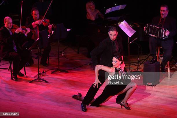 The Romulo Larrea Tango Ensemble presents 'Tangos From Gardel to Piazzolla' at Town Hall on Friday night April 29 2011This imageDancers Walter Perez...
