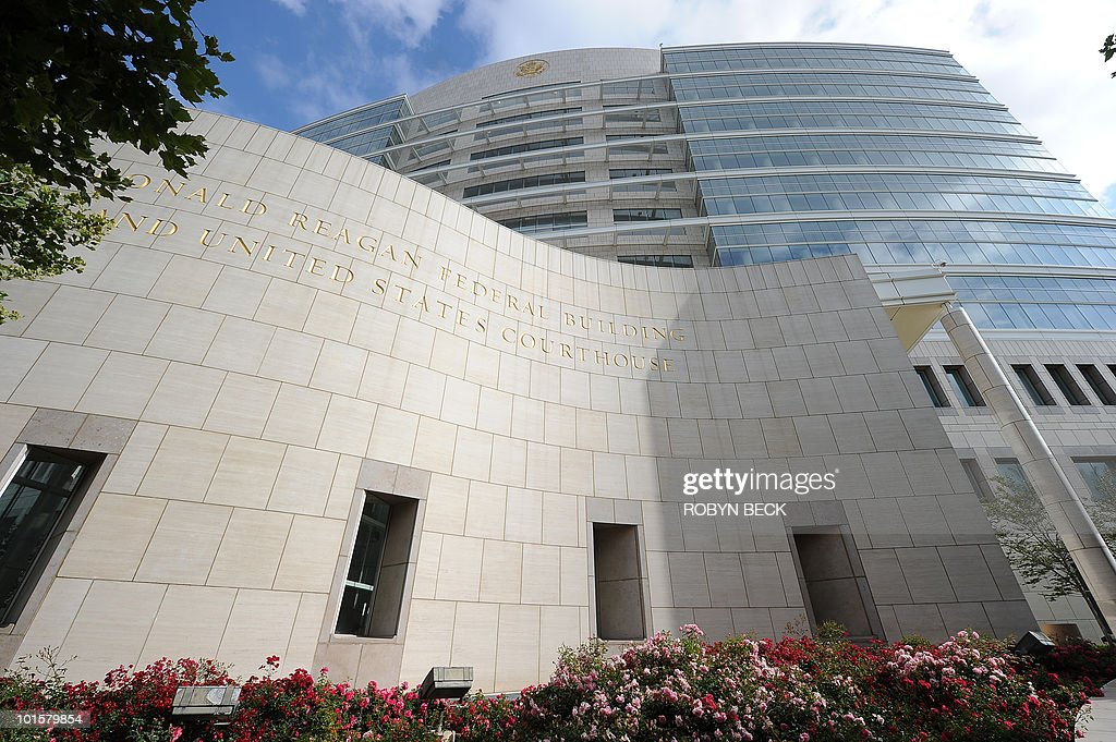 The Ronald Reagan Federal Building and US Courthouse building is seen in Santa Ana, California on May 28, 2010 where the Toyota Motor Company is facing one of the largest consolidated class-action cases in US history, combining more than 300 state and federal suits concerning acceleration defects in Toyota vehicles.