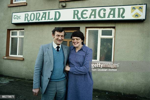 The Ronald Reagan public house in Ballyporeen County Tipperary Ireland circa 1985 The town is the ancestral home of US president Ronald Reagan