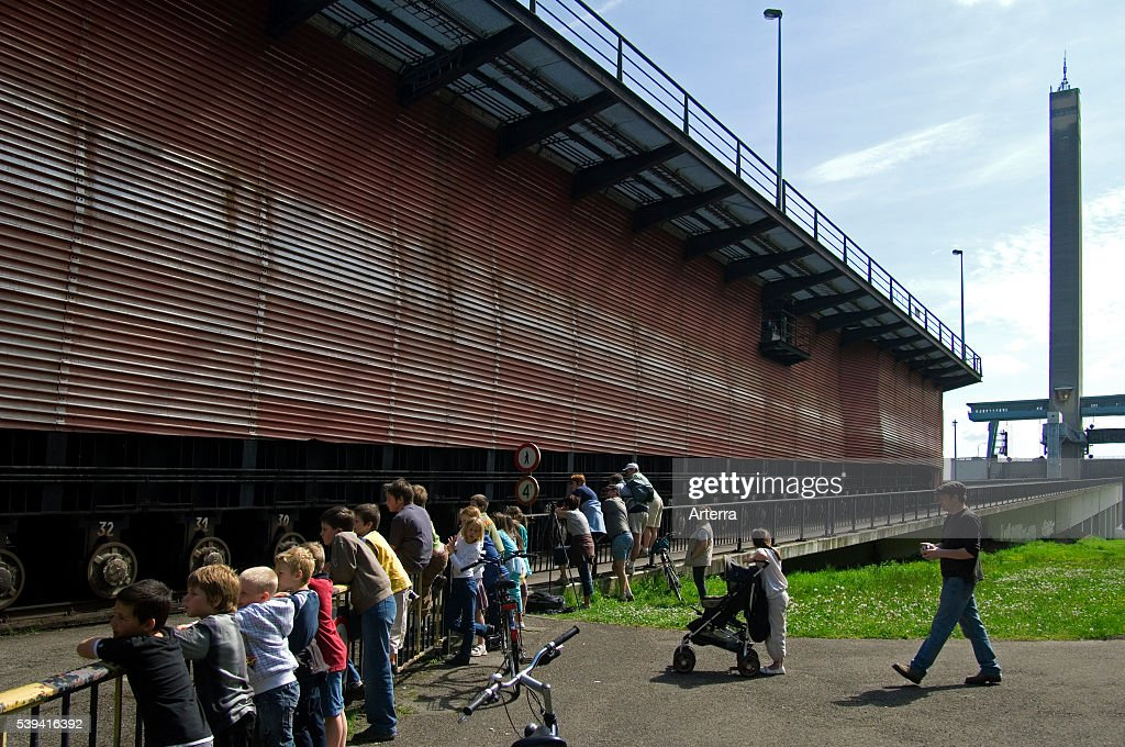 The Ronquieres Inclined Plane is a Belgian canal inclined plane on the BrusselsCharleroi Canal Belgium