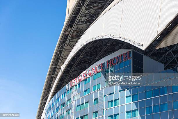 The roof and exterior of the Renaissance Hotel which is built into the Rogers Centre baseball stadium Rogers Centre is a multipurpose stadium in...