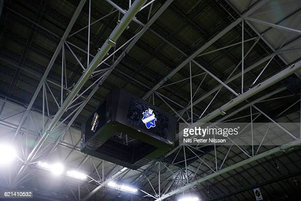 The roof is shut during the Allsvenskan match between AIK and Kalmar FF at Friends arena on November 6 2016 in Solna Sweden