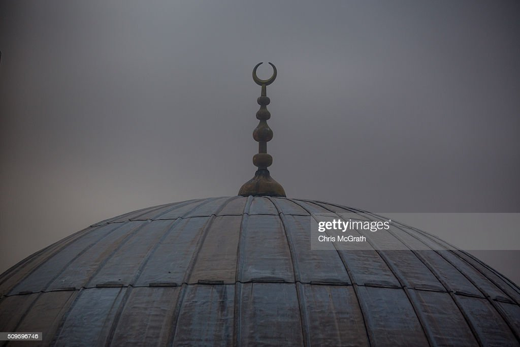 The roof of a mosque is seen on February 11, 2016 in Istanbul, Turkey. Istanbul is famous for its skyline dotted with historic mosques, it is home to more than 3000 mosques, the most of any city in Turkey and includes the famous Blue Mosque and Suleymaniye Mosque.