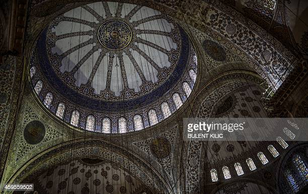 The roof of the Blue Mosque is seen on November 25 in Istanbul Pope Francis will visit Turkey from November 28 to 30 eight years after his...