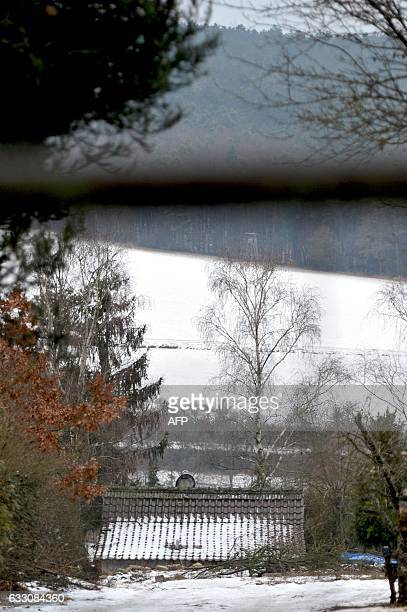 The roof of the private property where six teenagers were found dead is pictured in Arnstein central Germany on January 30 2017 Six teenagers were...