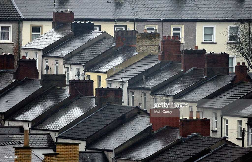The roof tops of houses in residential streets can be seen on April 21 2008 in Newport Wales A poll by researchers Fitch has revealed 10 'subprime'...