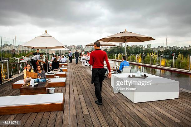 The rooftop bar at Hotel Unique in Sao Paulo.