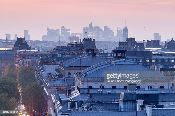 The rooftops of Paris, France.