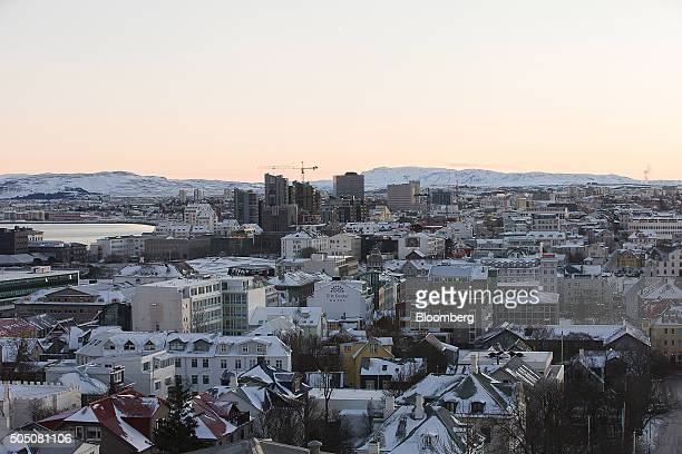 The rooftops of residential and commercial property sits on the city skyline in Reykjavik Iceland on Thursday Jan 14 2016 Iceland's prime minister...
