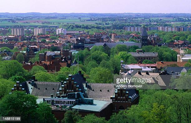 The rooftops of the city of Lund