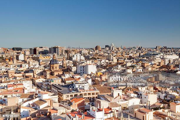 The rooftops of Valencia in Spain.