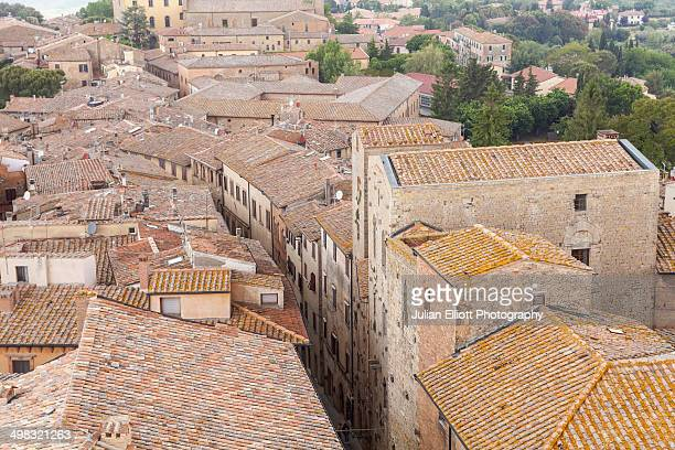 The rooftops of Volterra, Tuscany.