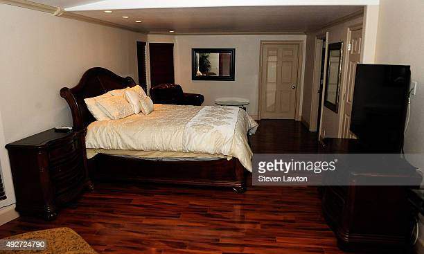 The room where former NBA player Lamar Odom was found unconscious at the Love Ranch Las Vegas brothel is shown on October 14 2015 in Crystal Nevada...