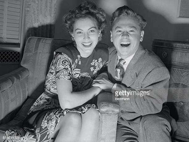 The Rooneys Are Out To See The Bright Lights New York New York Just like any other pair of newlyweds The Mickey Rooneysshe was Ava Gardner film...