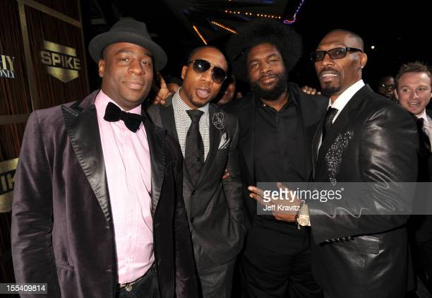 The Roots and Charlie Murphy arrive at Spike TV's 'Eddie Murphy One Night Only' at the Saban Theatre on November 3 2012 in Beverly Hills California