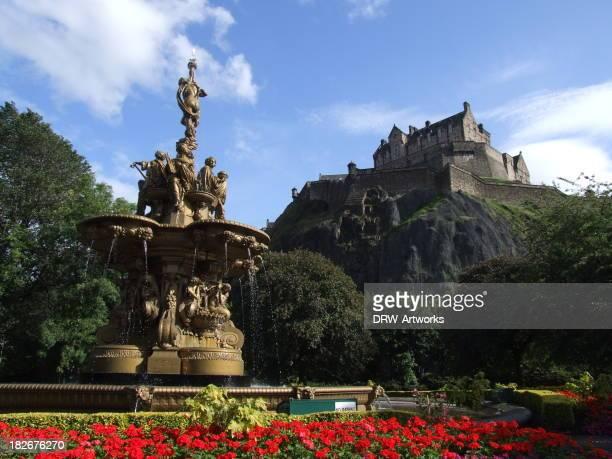 The Ross fountain beneath Edinburgh Castle