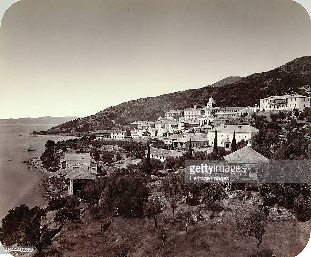 The Rossikon on Mount Athos Greece 1860s This Russian Orthodox monastery is the largest of the monasteries on Mount Athos It was originally founded...