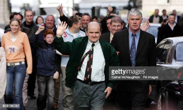 The Rossport Five led by Micheal O'Seighin and Brendan Philbin leave the High Court in Dublin Tuesday October 25 2005 Mr Justice Joseph Finnegan said...