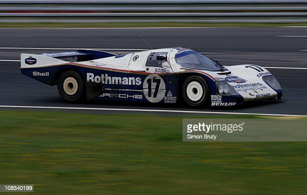 The Rothmans Racing Porsche 962C driven by Hans Joachim StuckDerek Bell and Al Holbert during the FIA World Sportscar Championship 24 Hours of Le...