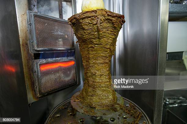 The rotisserie which cooks the meat for the shawarma's Jamila Rifi is closing up shop of King Falafel the corner of Bathurst Street and Eglinton Ave...