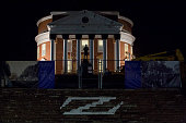 The Rotunda stands under renovation on the University of Virginia campus in Charlottesville Virginia US on Friday Jan 16 2015 This year's rush week...