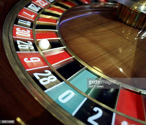 The roulette ball takes a spin on the wheel at the Two Rivers Casino and Resort August 1 2005 north of Davenport Washington The casino is one of the...