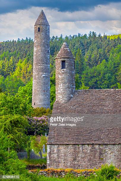 The Round Tower in Glendalough monastic site, County Wicklow, Ireland