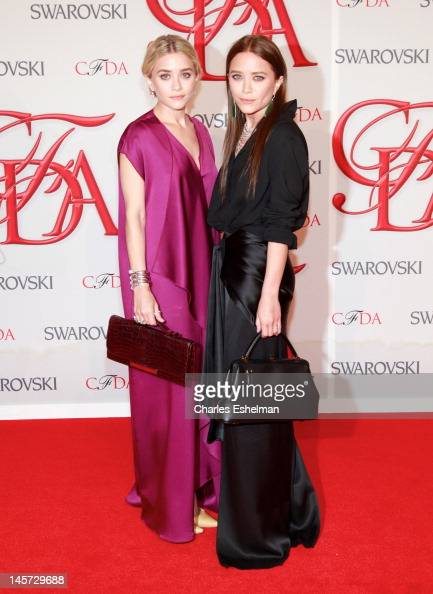 The Row designers Ashley Olsen and Mary Kate Olsen attend 2012 CFDA Fashion Awards at Alice Tully Hall on June 4 2012 in New York City