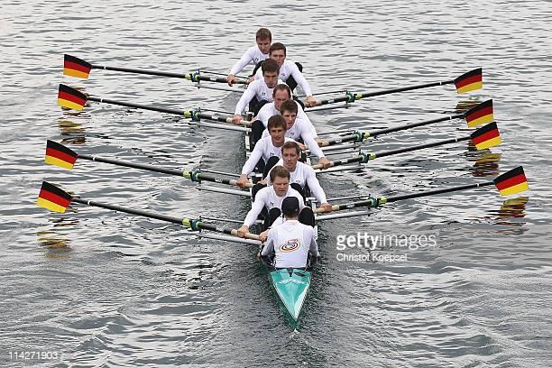 The Rowing Eight of Germany with Martin Sauer Kristof Wilke Toni Seifert Lukas Mueller Florian Menningen Richard Schmidt Eric Johannesen Andreas...