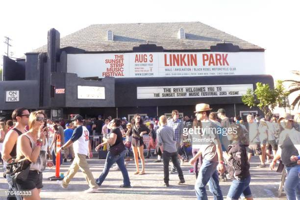 The Roxy during the Sunset Strip Music Festival in Los Angeles California on August 3 2013