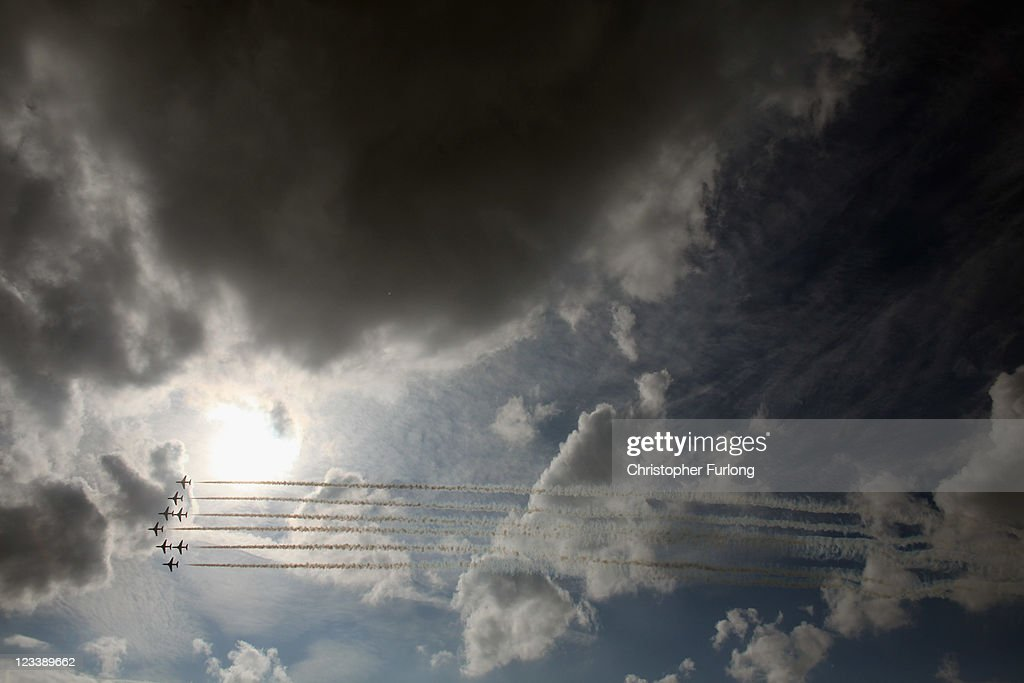 Perform their first public aerobatic display since the tragic death