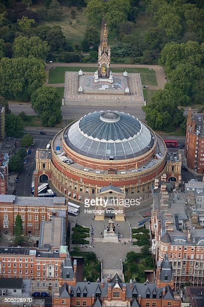 The Royal Albert Hall and the Albert Memorial Kensington London 2006 Aerial view Artist Historic England Staff Photographer