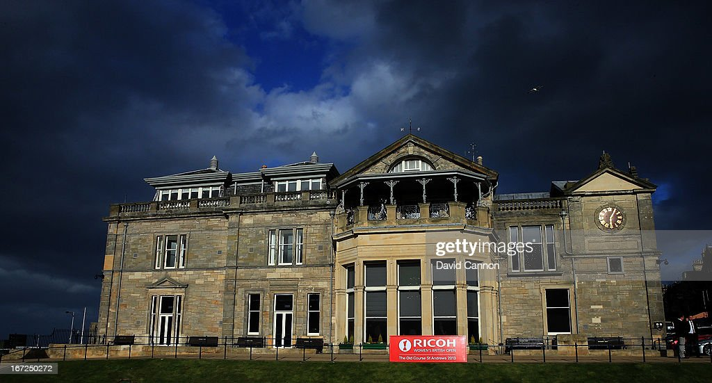 The Royal and Ancient Golf Club Clubhouse during the 2013 Ricoh Women's British Open Press Day on the Old Course at St Andrews, Scotland.
