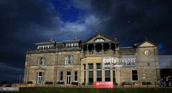 The Royal and Ancient Golf Club Clubhouse during the 2013 Ricoh Women's British Open Press Day on the Old Course at St Andrews Scotland