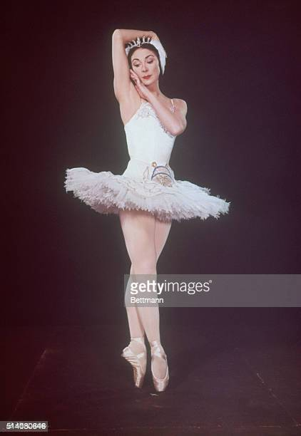 The Royal Ballet Company's Prima Ballerina Dame Margot Fonteyn as Princess Odette in Swan Lake Composer Pyotr Ilyich Tchaikovsky
