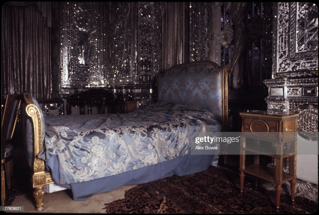 The royal bedroom in the Green Palace, part of the Niavaran Palace complex, Tehran, Iran, 23rd December 1979. The home of Shah Mohammad Reza Pahlevi until the Iranian Revolution, the palace complex is now a museum.